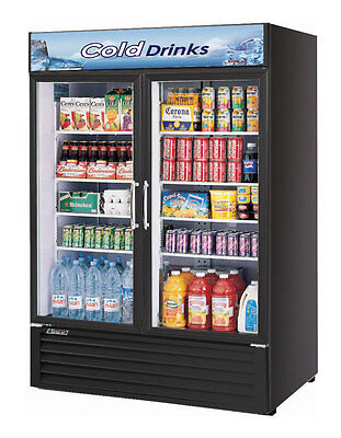 Turbo Air 50 Cu.Ft Refrigerated Merchandiser with 2 Glass Doors TGM-50RS