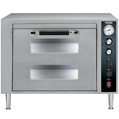 Waring Countertop Double Deck Electric Pizza Oven (1) Door - Wpo700