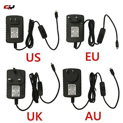 5V 3A Micro USB Power Adapter Charger For Raspberry Pi 2 3 Tablet PC US EU UK AU