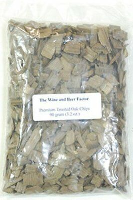 2 packages of 2.6 oz (75 gr) Premium toasted Oak Chips wine making
