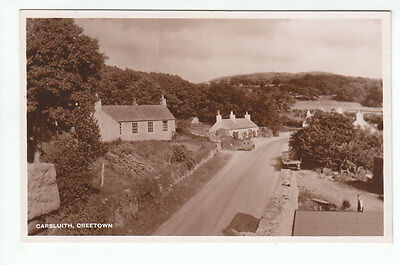 Carsluith Village Creetown Kirkcudbright Real Photograph c1940's Old Postcard
