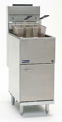 Pitco 40D 40 LB Capacity 4 Tube Gas Fired Deep Fryer 115kbtu