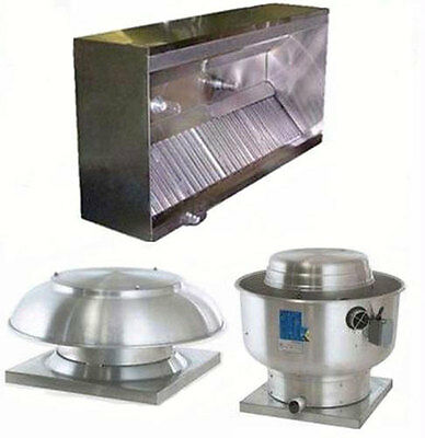 Superior Hoods 8ft ETL Listed Hood System w/ Make-Up Air & Exhaust Fans