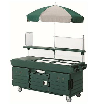 Cambro KVC854519 4 Well Vending Merchandising Cart w/ Umbrella Kentucky Green