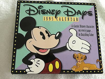 Vintage 1995 Disney Days Calendar...a Classic Disney Character On Every Page-Mib
