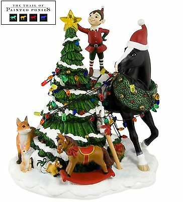 Trail of Painted Ponies Woodland Christmas Light Up Musical Centerpiece New