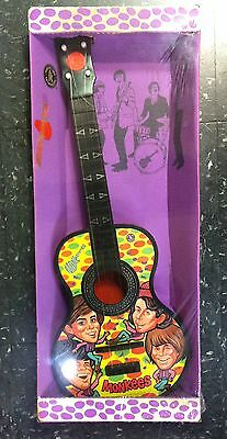 MONKEES 1966 Mattel Wind-Up Toy Guitar With Rare Box, Pick & Strings WORKS!
