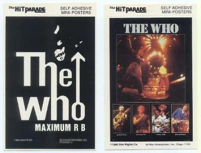 THE WHO 1980 & 1983 Postcard Stickers 2 Different near MINT