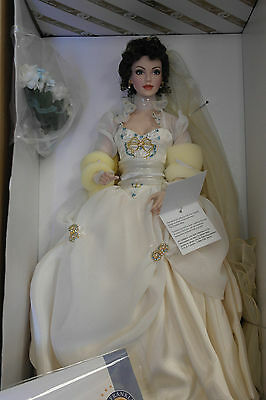 "Franklin Mint Faberge KATYA Summer Bride Doll 18"" Gorgeous COA RARE"