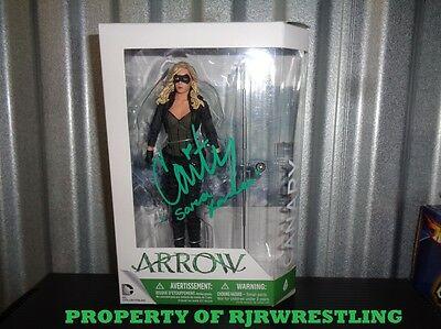Cw Arrow Caity Lotz Signed Black Canary Dc Collectibles Action Figure Coa & Pic