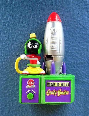 "Marvin The Martian Pez Candy Holder Dispenser 6.5"" Tall Looney Tunes Oddzon 1998"