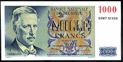 Belgium. 1,000 Francs, 3067 M 930. 9-11-50, Almost Uncirculated.