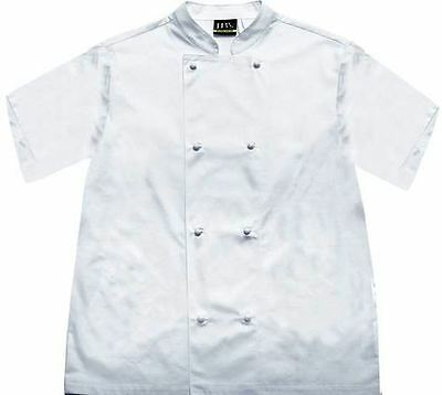 JBsVented Chefs Jacket Short Sleeve White size  L
