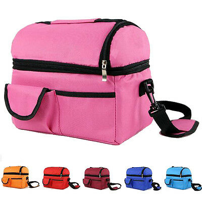 TT New Lunch Picnic Carry Tote Bag Portable Waterproof Handbag Insulated/Cooler