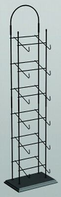 AYS Retail 6 Tier Cap Product Tower Display Hold Up To 6-8 Cap Per Tier (Black)