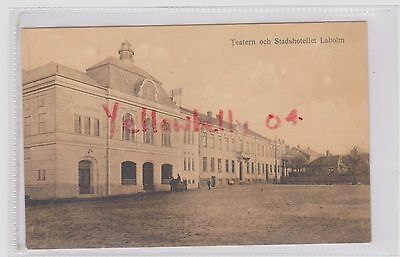 Sweden Laholm Teatern Theater Bw Ppc Pu 1915 Lindgrens Card