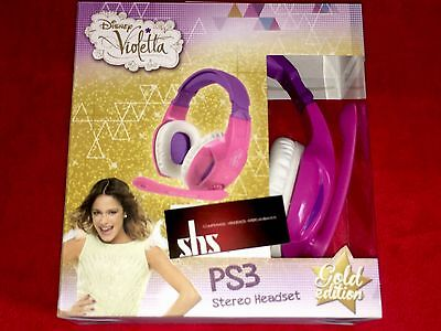 Auriculares Ps3 Pc Disney Violetta Gold Edition ¡nuevo! Garantia