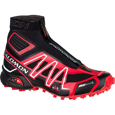 New Salomon Unisex Snowcross CS Trail Running Shoes Size 9.5 Black/Red/Cane