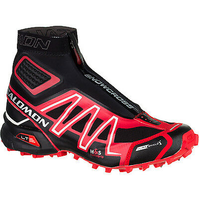 New Salomon Unisex Snowcross CS Trail Running Shoes Size 8.5 Black/Red/Cane