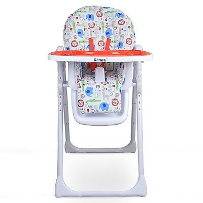 iSafe MAMA Highchair - Serengetti Recline With Double Tray & Storage Basket