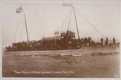 Southend On Sea New Prince Of Wales Essex Ship Vintage Real Photo Postcard