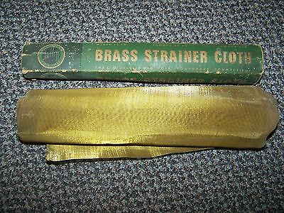 Vintage JELLIFF Brass Strainer Cloth w/ Box AUTO AGRICULTURE FUEL STRAINER CLOTH
