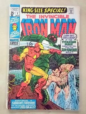Iron Man Special #1 - 1970 King Size - Sub Mariner APP - FN