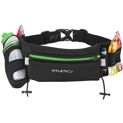 Fitletic Fully Loaded Hydration Running Belt - Green