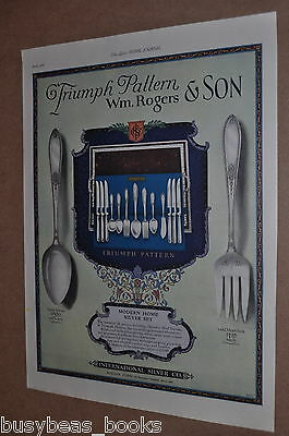 1926 International Silver advertisement, Wm. Rogers & Son Triumph pattern