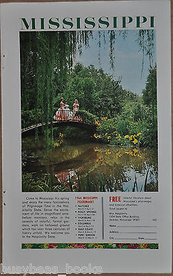 1964 MISSISSIPPI TOURISM advertisement, Southern Belle, antebellum dresses