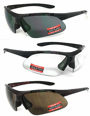 Inner Bifocal Safety Reading Sunglasses Glasses Sun Reader Uv400 Z87.1+ Re95
