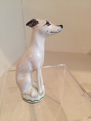 A Charming Porcelain Miranda Smith Faun Whippet / Greyhound /Lurcher Signed