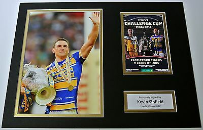 Kevin Sinfield SIGNED autograph 16x12 photo display Leeds Rhinos Rugby PROOF COA