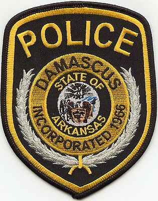 Damascus Arkansas Ar Police Patch