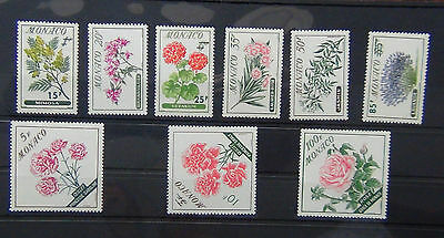 Monaco 1959 Flowers set MNH (100F is MM)