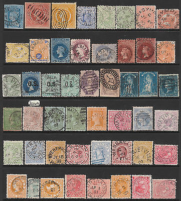 NEW SOUTH WALES QUEENSLAND VICTORIA #204a WESTERN/SOUTH AUSTRALIA USED STAMPS