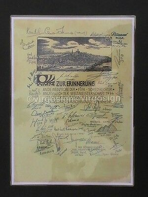 FOOTBALL  WORLD CUP Finals 1974 SIGNED By The Referee & Linesmen OFFICIALS Print