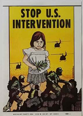 Stop U.S. Intervention Socialist Party Anti War Poster