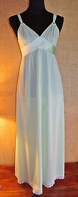 Nuisette Longue Full Slip Sissy Lingerie Retro Nightgown Negligee !408