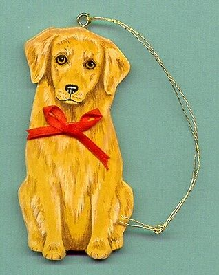 GOLDEN RETRIEVER Wooden ORNAMENT - Sitting - Hand Crafted - personalize w/name!
