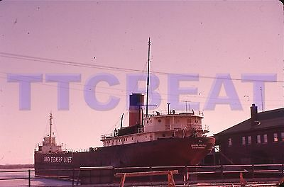 Ship Slide: Canada Steamship Lines Burlington In Toronto (1959 Original)