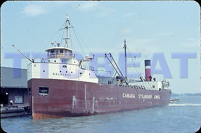 Ship Slide: Canada Steamship Lines Selkirk In Toronto (1958 Original)