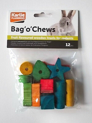 Bag 'o' Chews - Fruit Flavoured Wood Treats - 12 Pack - New