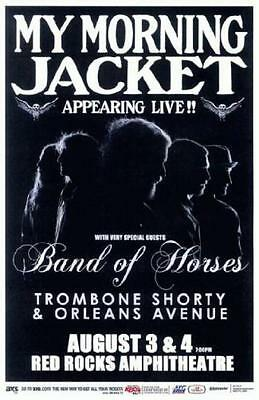 My Morning Jacket Band Of Horses 2012 Red Rocks Concert Poster