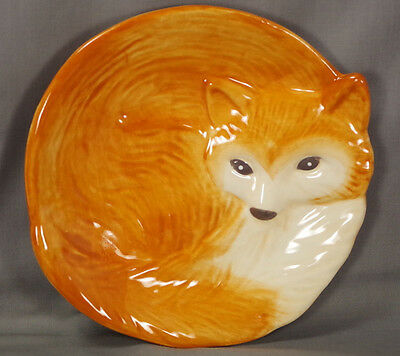 BETTER HOMES & GARDENS Heritage Collection (2014) Earthenware 3-D FOX Plate EUC