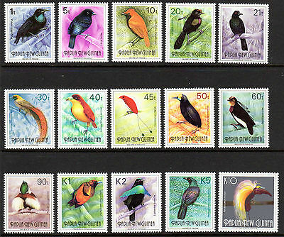 1991 PAPUA NEW GUINEA BIRDS OF PARADISE SG636-650 mint unhinged