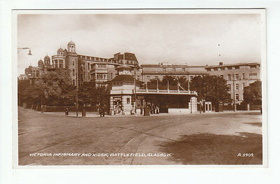 Victoria Infirmary And Kiosk Battlefield Glasgow 1937 Real Photograph Valentines