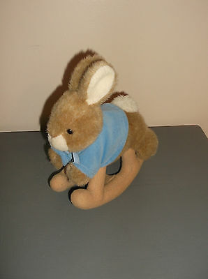 Peter Rabbit lovey plush Beatrix Potter Warne Eden hobby horse style rocker