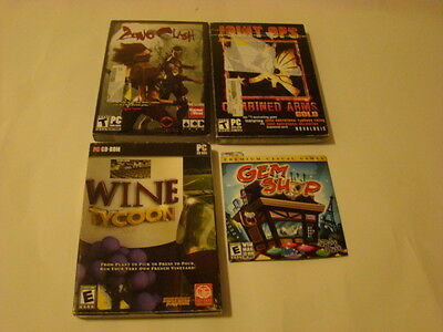 LOT OF 4 PC GAMES Gem Shop 2006 PC Game, Wine Tycoon 2009 PC Game, Zeno Clash PC