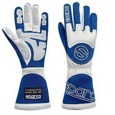Sparco 00137TX08AB Tornado Racing Driving Gloves, Blue, Size XS
